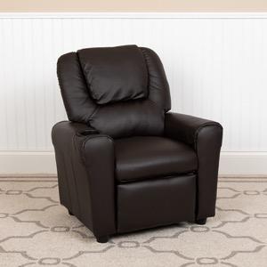 Brown kids recliner