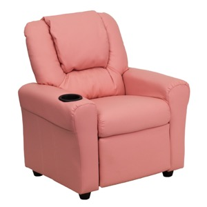 Pink kids recliner