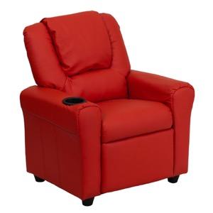 Red kids recliner