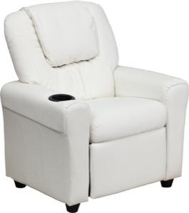 White kids recliner