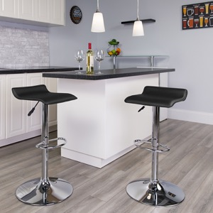 Black contemporary barstool
