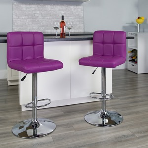 Purple contemporary barstool