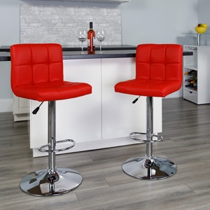 Red contemporary barstool