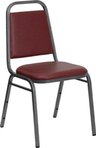 Burgundy Vinyl banquet chair