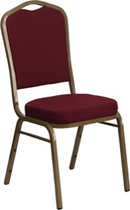 Burgundy Fabric banquet chair