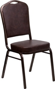 Brown Vinyl banquet chair