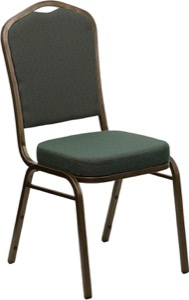 Green Fabric banquet chair