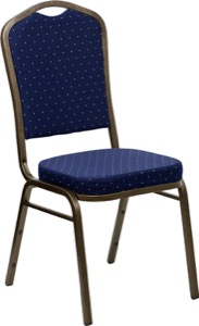 Blue Fabric banquet chair