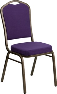 Purple Fabric banquet chair