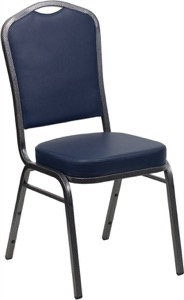Blue Vinyl banquet chair