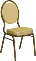 Beige Fabric banquet chair