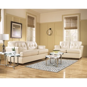 Ashley-Ivory Living Room Set