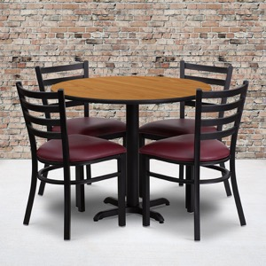 restaurant table set