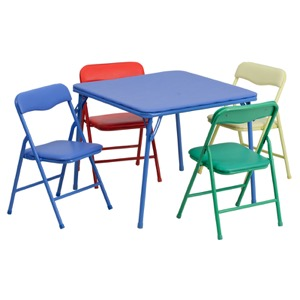Colorful folding table set