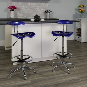 Blue drafting stool
