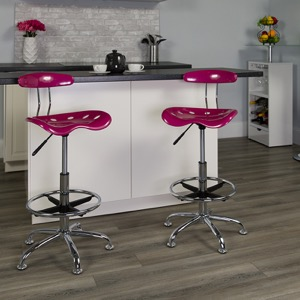 Pink drafting stool