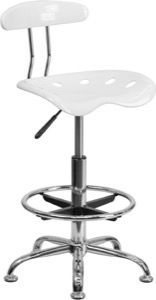 White drafting stool