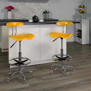 Yellow drafting stool