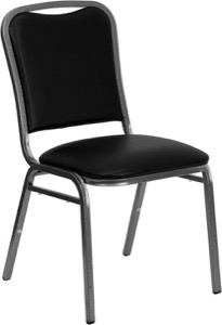 Black Vinyl banquet chair