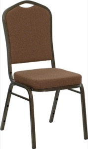 Brown Fabric banquet chair
