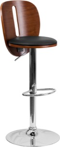 Walnut contemporary barstool