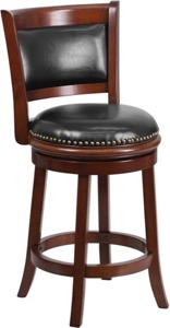 wood counter bar height stool