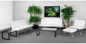 White lounge set
