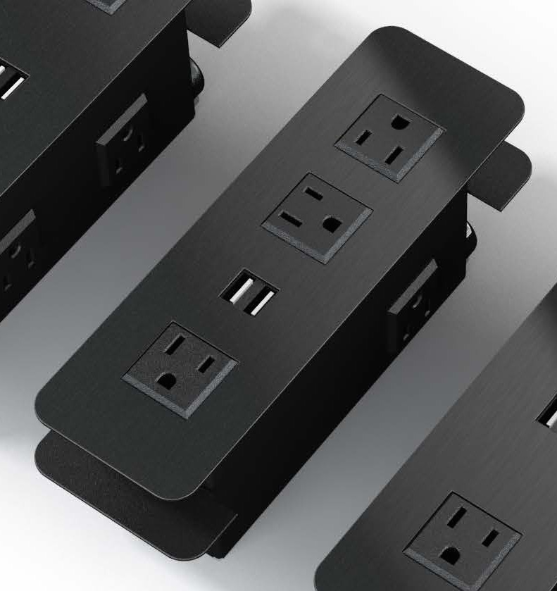 Surface Mount Power Outlets With USB Charging Ports - Conference table power supply