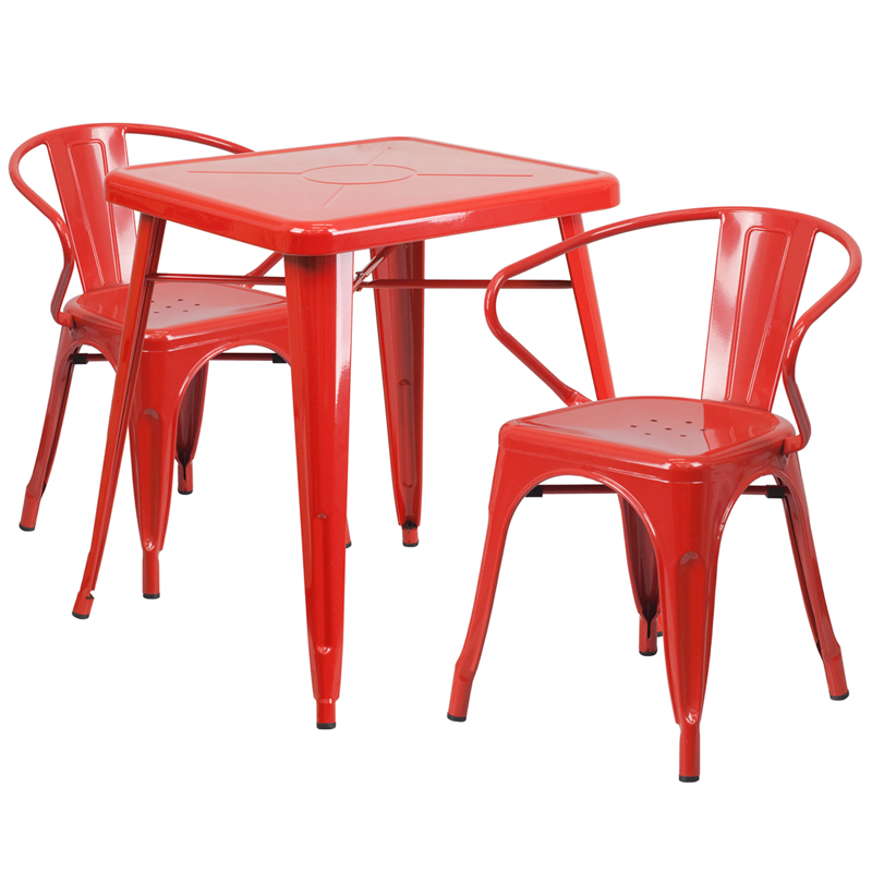 coffee red gloss lack metal trays patio outdoor side of artistic tables medium size table