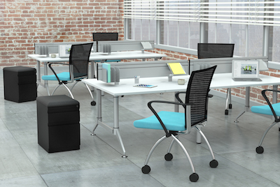 Mayline EVEN Dual-Sided Workstations