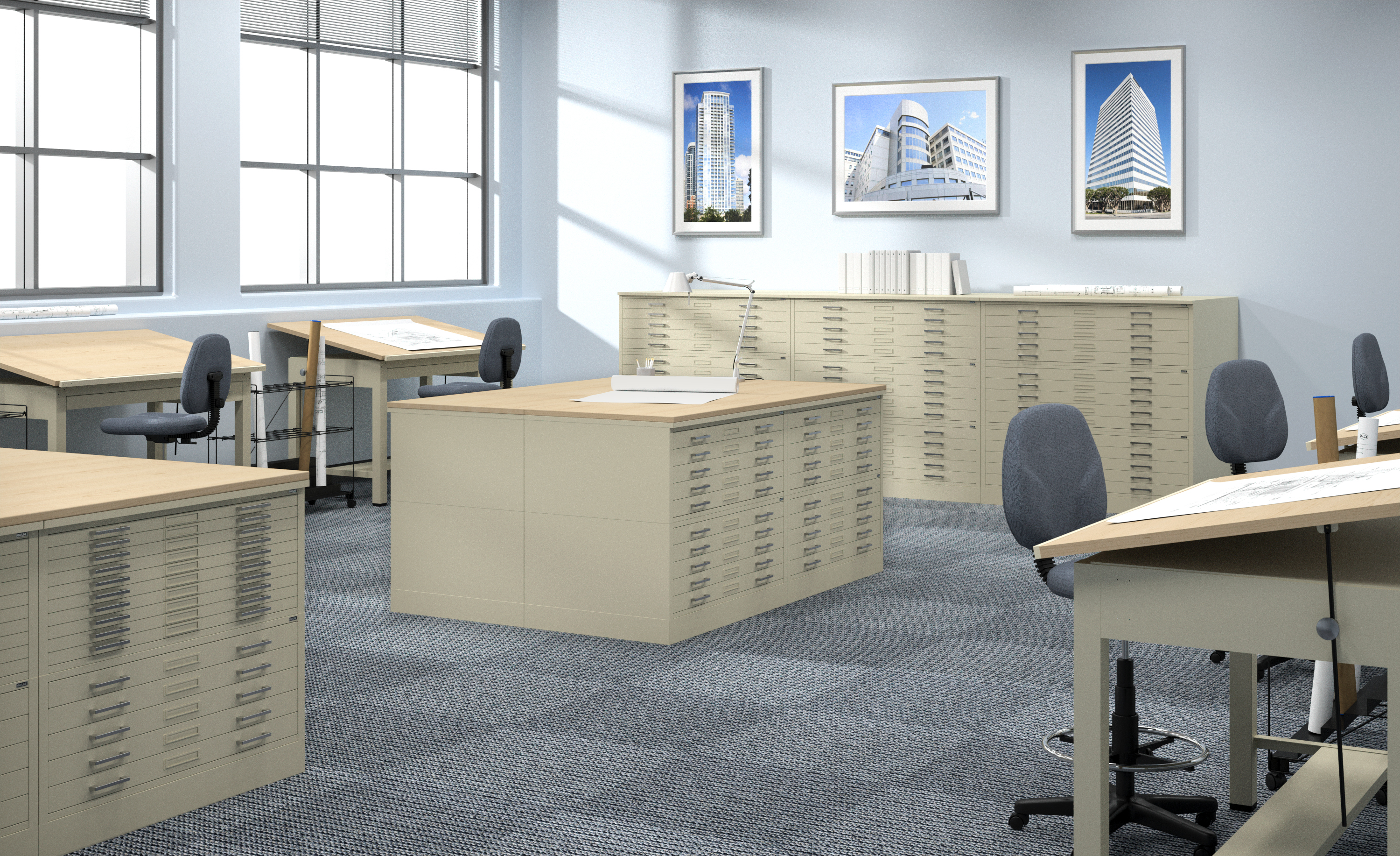 Mayline Drafting Tables & Interlocking Plan Files