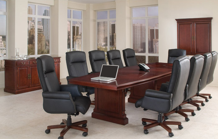 Keswick Traditional Conference Table and Chairs