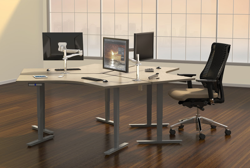 120 Degree Height Adjustable Desks