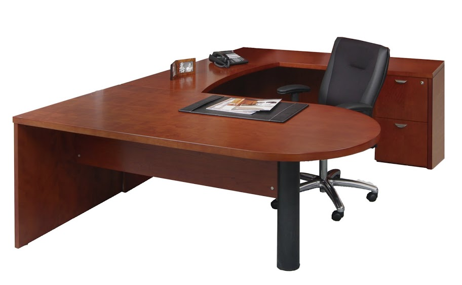 discount office furniture - mayline mira peninsula desk meu4