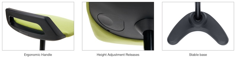 OFM Height-Adjustable Perch Stool