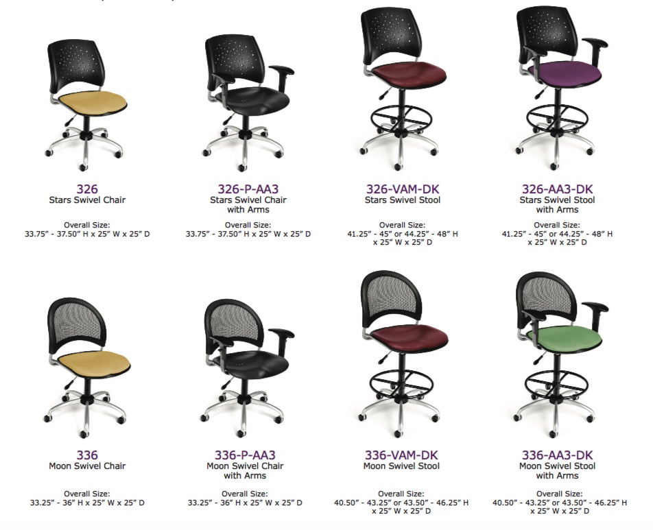 OFM Moon and Stars Swivel Chairs and Stools