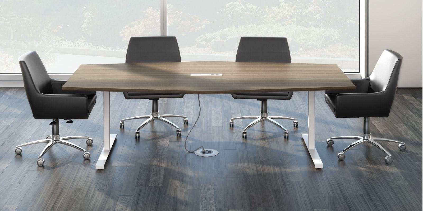 WoW Watson Seven Office Furniture Enhance Your Open Office Designs - Gray conference table
