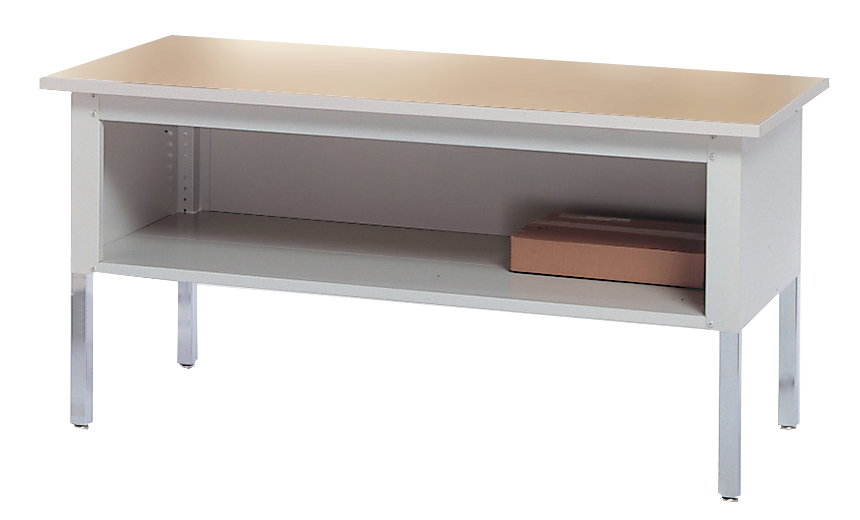 Mayline Mailflow Work Table with Shelf