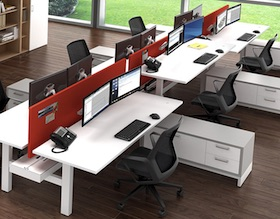 Seven Office Desk Furniture, Watson Seven Flexible Office Design