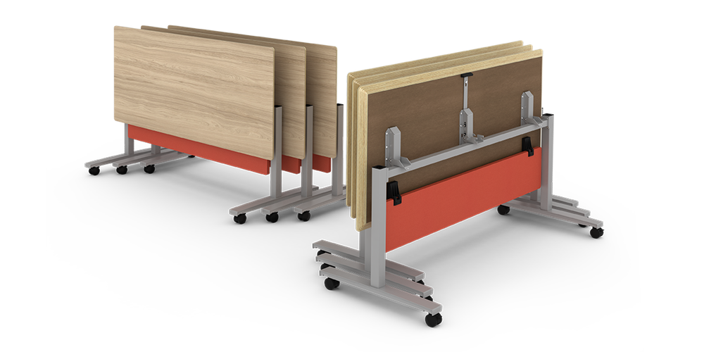 Seven Flip Top Training Tables By Watson Furniture