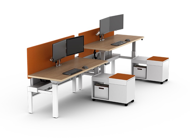Seven Height Adjustable Workstations By Watson Furniture