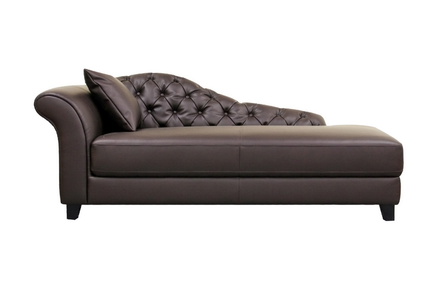 Josephine Brown Leather Chaise Lounge Chair  sc 1 st  VQV Furniture Group : chaise lounger chair - Sectionals, Sofas & Couches