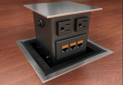 WoW Electric Power USB Charging Video Data Modules Enhance - Conference table power hub