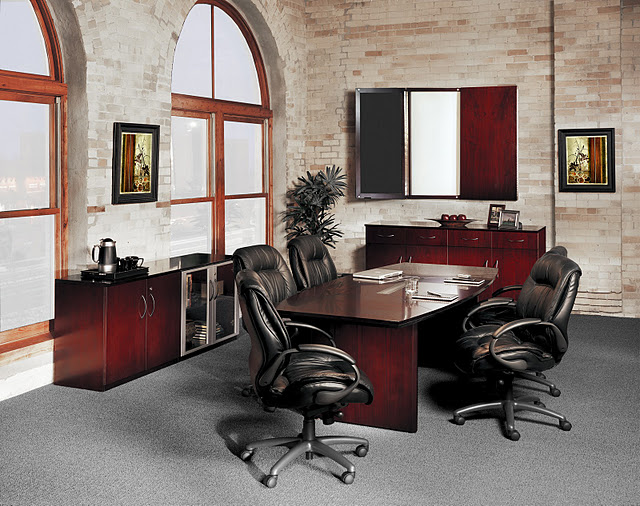 Discount Office Furniture Mayline Corsica Executive Desk CT - Executive office conference table