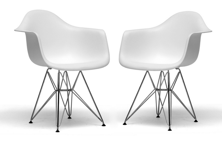 Eames-Inspired Plastic Molded Chair