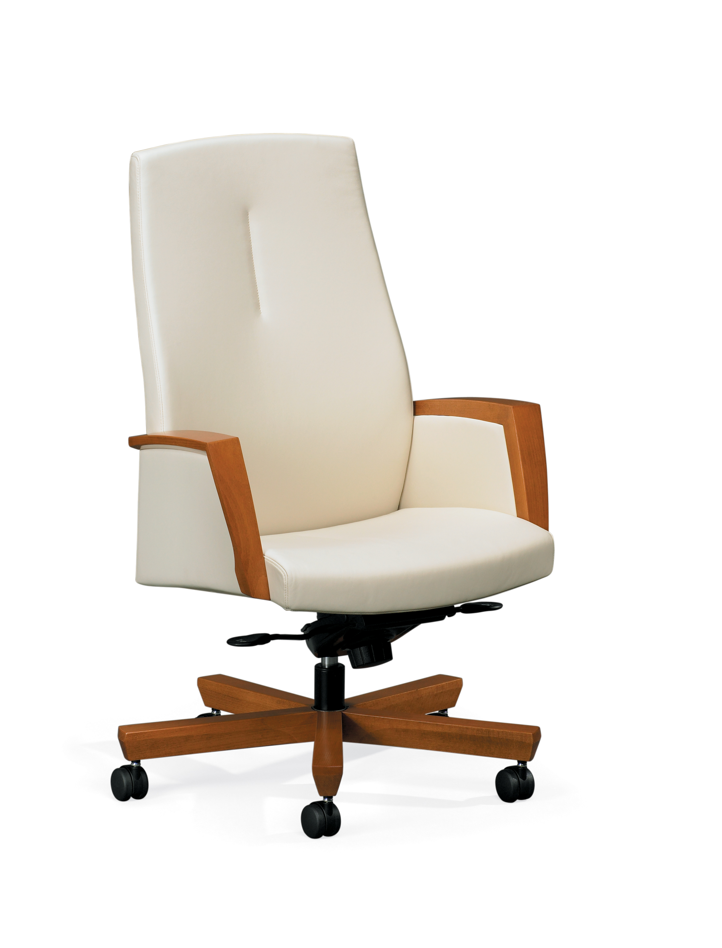 Tan leather office chair - Paoli Diverge High Back Office Chair With Knee Tilt Control