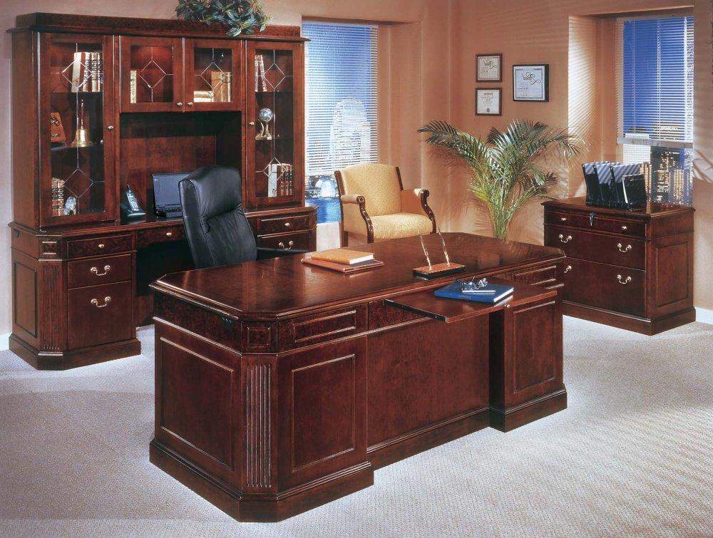 Dmi oxmoor credenza executive storage cabinet - Executive home office furniture sets ...