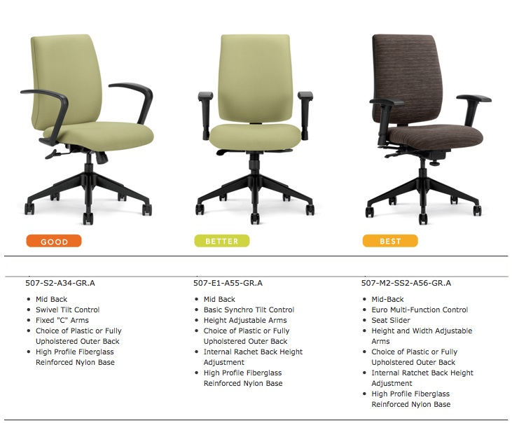 Highmark Kadet Office Chairs