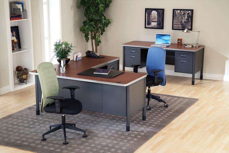 Metal office furniture ofm mesa - Metal office desk ...