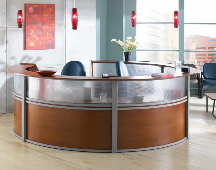 Ofm Marque Plexi Reception Station Model Shown 55316 In Cherry